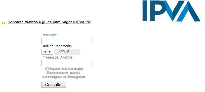 Consulta IPVA 2020 PR