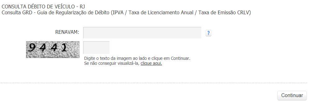 Consulta IPVA 2020 RJ
