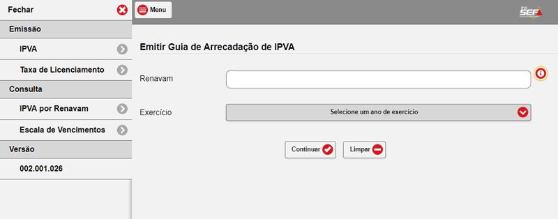 Consulta IPVA MG